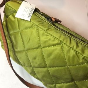 J. Crew Quilted Lime Green Purse